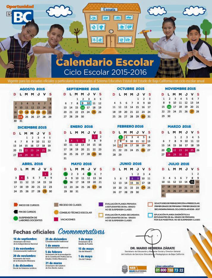2016 05 26 calendario escolar 2016 2017 sep 200 días